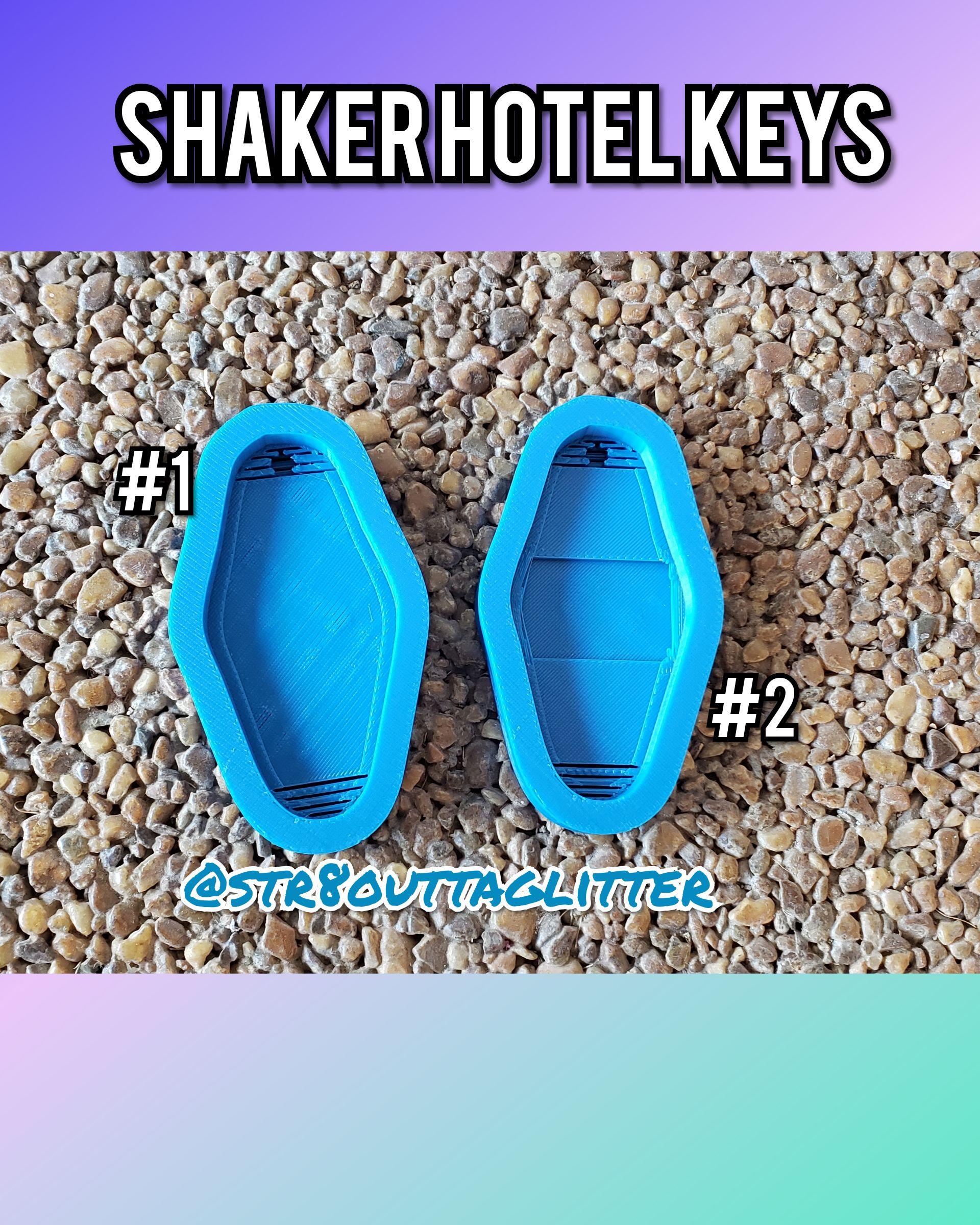 Blank Shaker Hotel Keys Straight Outta Glitter Online Store