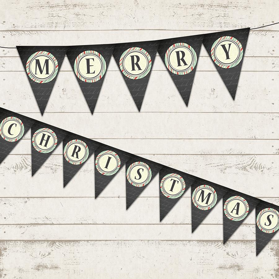 Valerie Pullam Designs Christmas Banner Merry Christmas