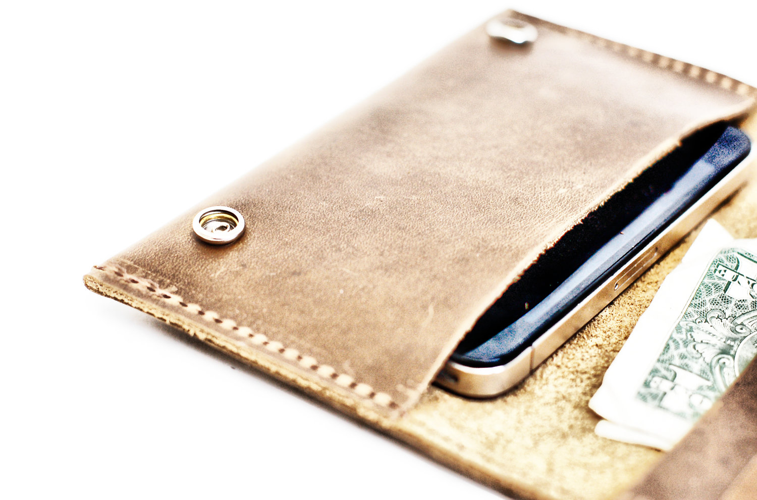 leather iphone 5 case divina denuevo aged leather iphone and wallet pouch 3721