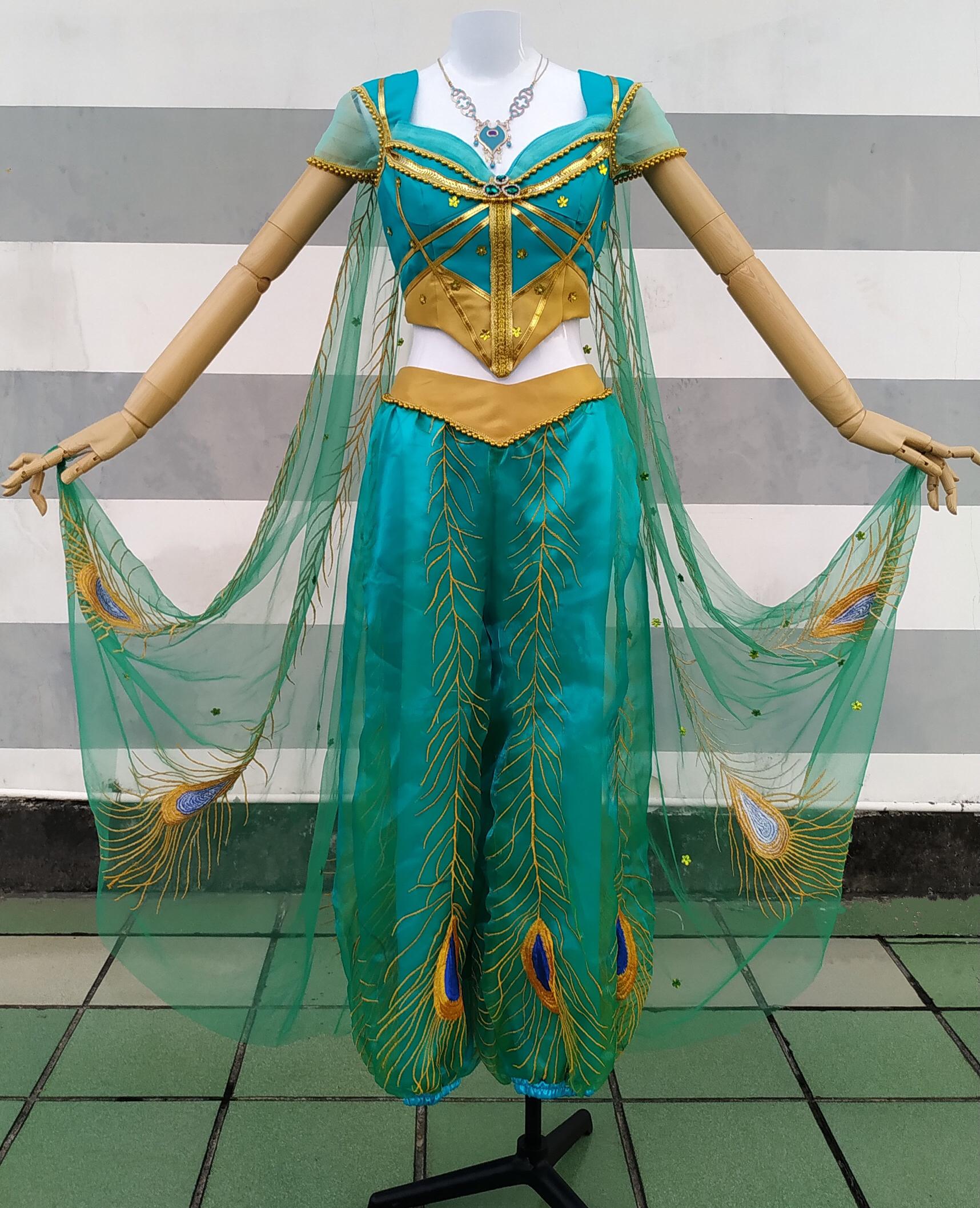 P076 Jasmine costume Aladdin moive 2019 cosplay princess
