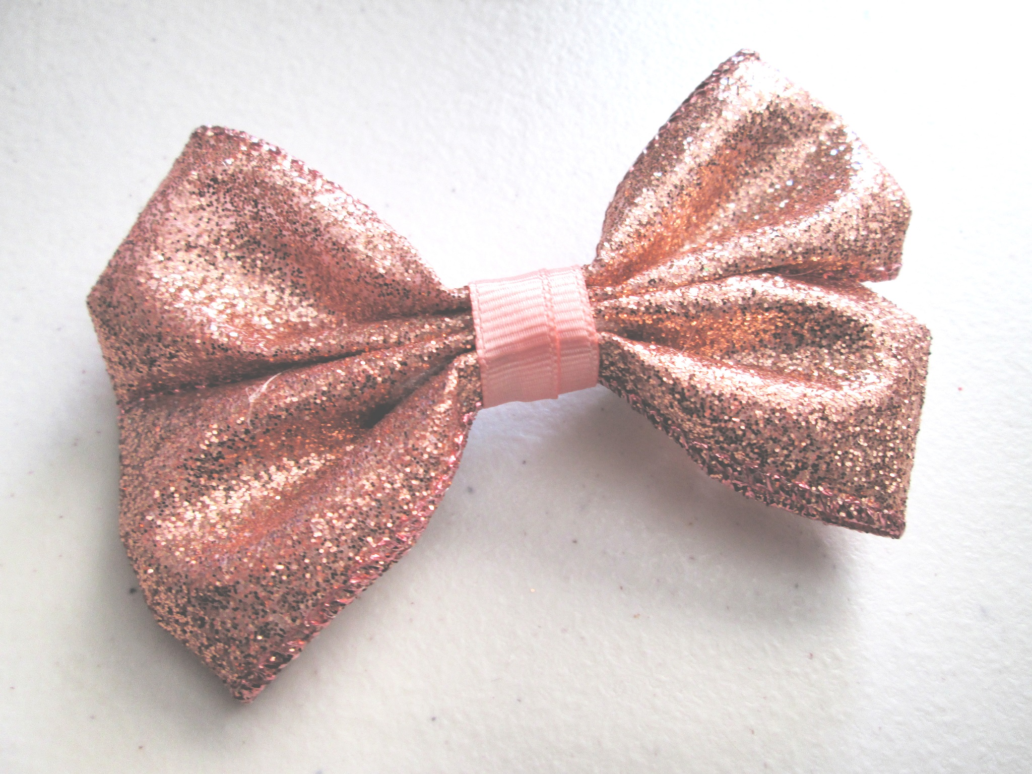 Rose Gold Glitter Hair Bow Sold By Stylish Smithereens On Storenvy