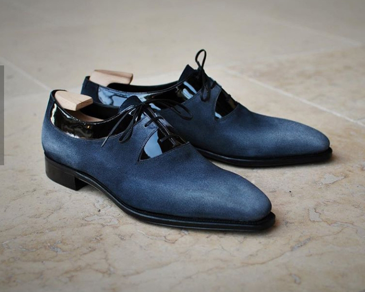 leather and suede shoes