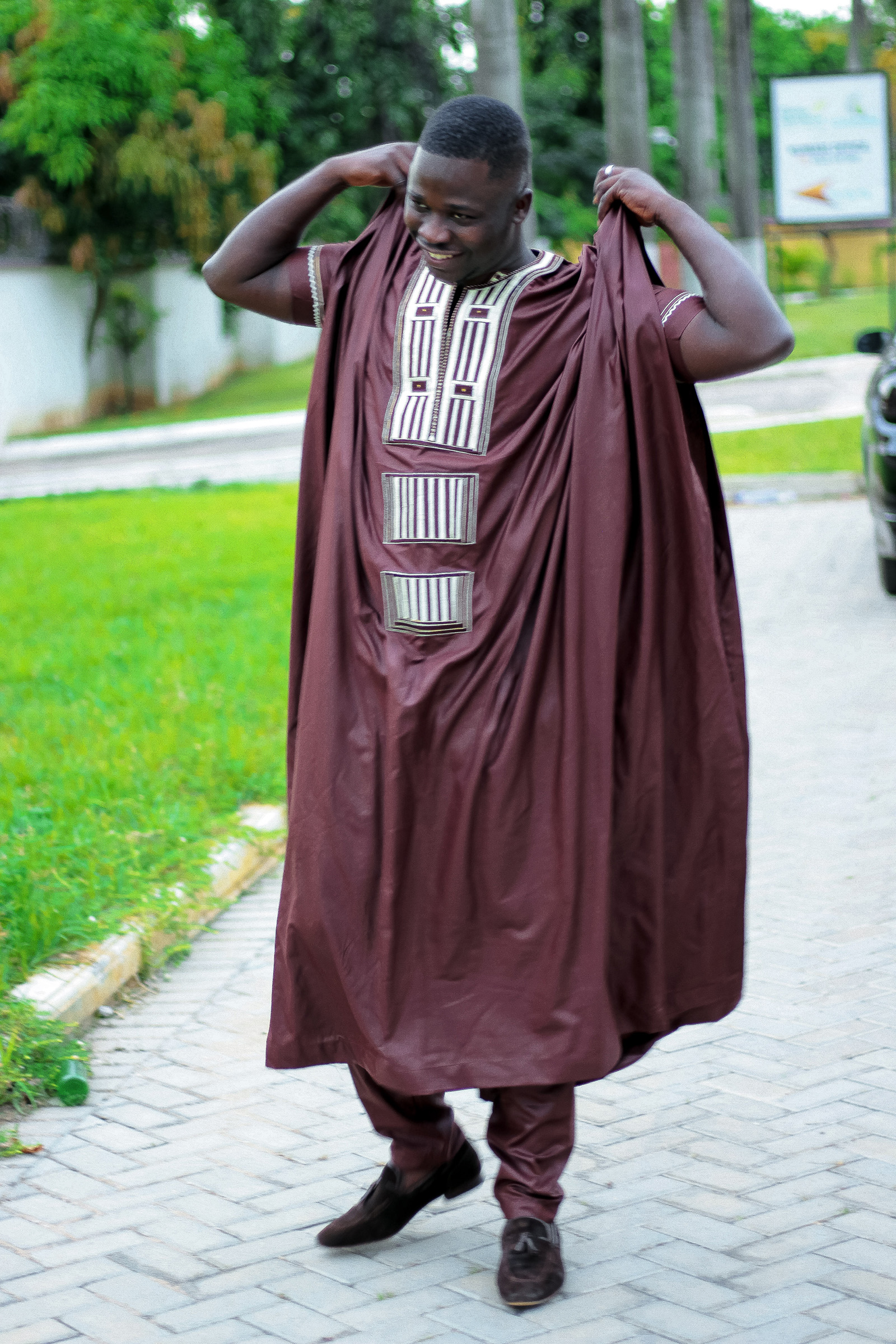 Grooms men attire African fashion African wear Men embriodery outfit African clothing