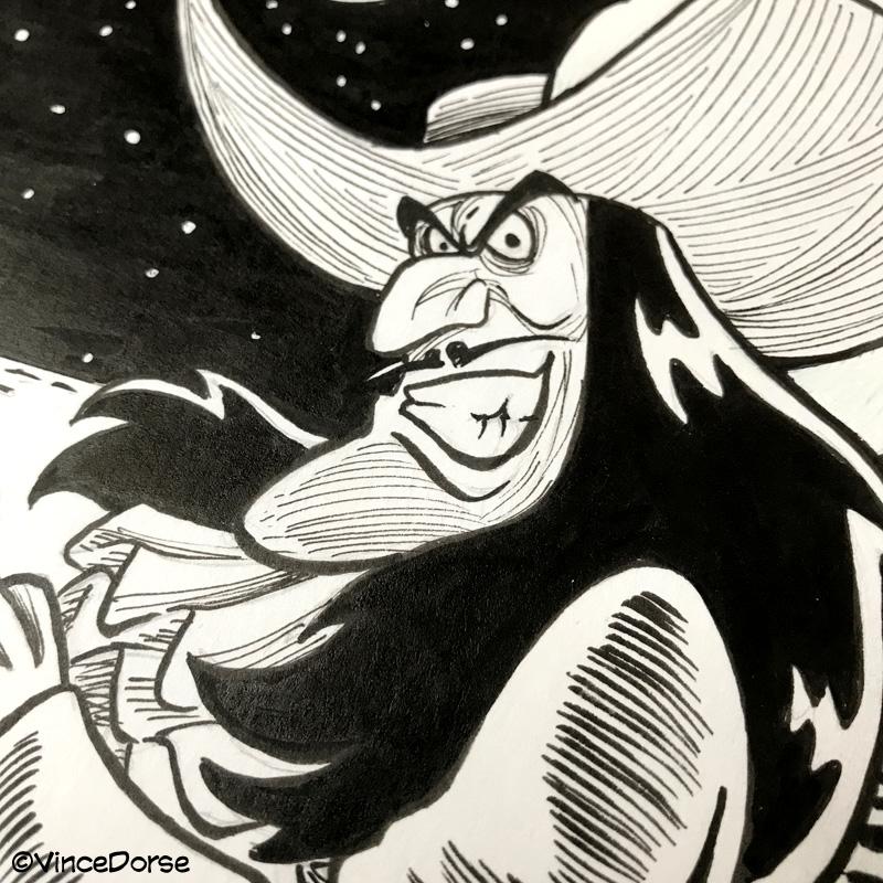 captain hook ink drawing · vince dorse online store