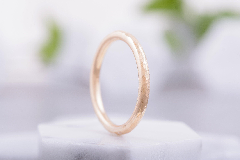 14K Gold Wedding Band 2mm Half Round 14K Gold Band EcoFriendly Solid 14K Gold Band Women/'s 14K Yellow or 14K Rose Gold Wedding Ring Band