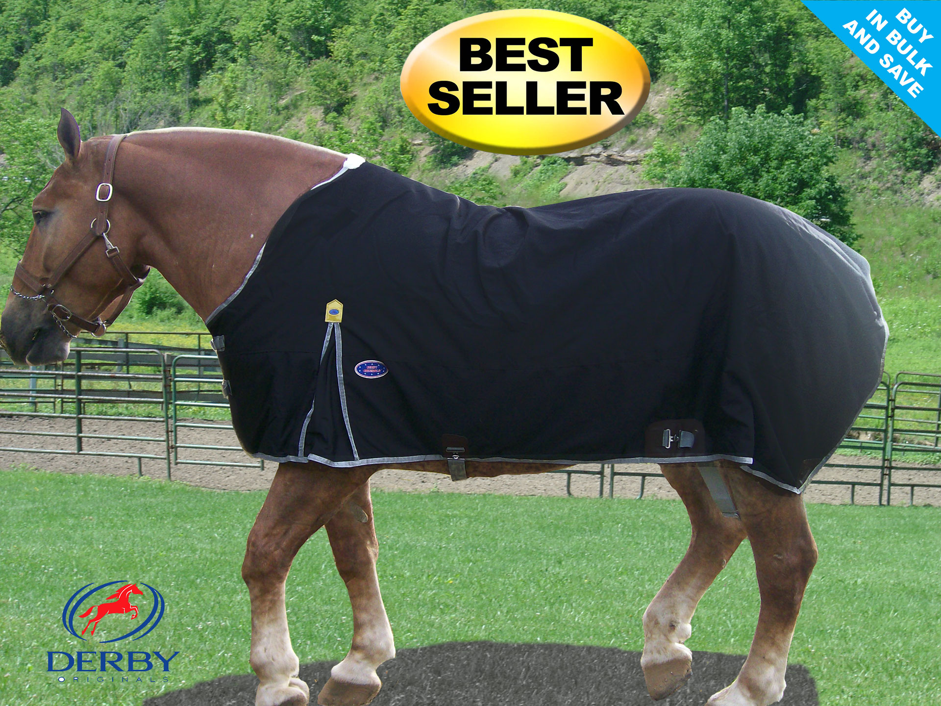Winter Horse Blankets >> Nylon Winter Turnout Draft Horse Blankets 600d By Derby