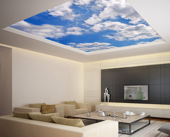 Ceiling sticker mural sky heaven clouds airly air decole poster 93x93236x236cm