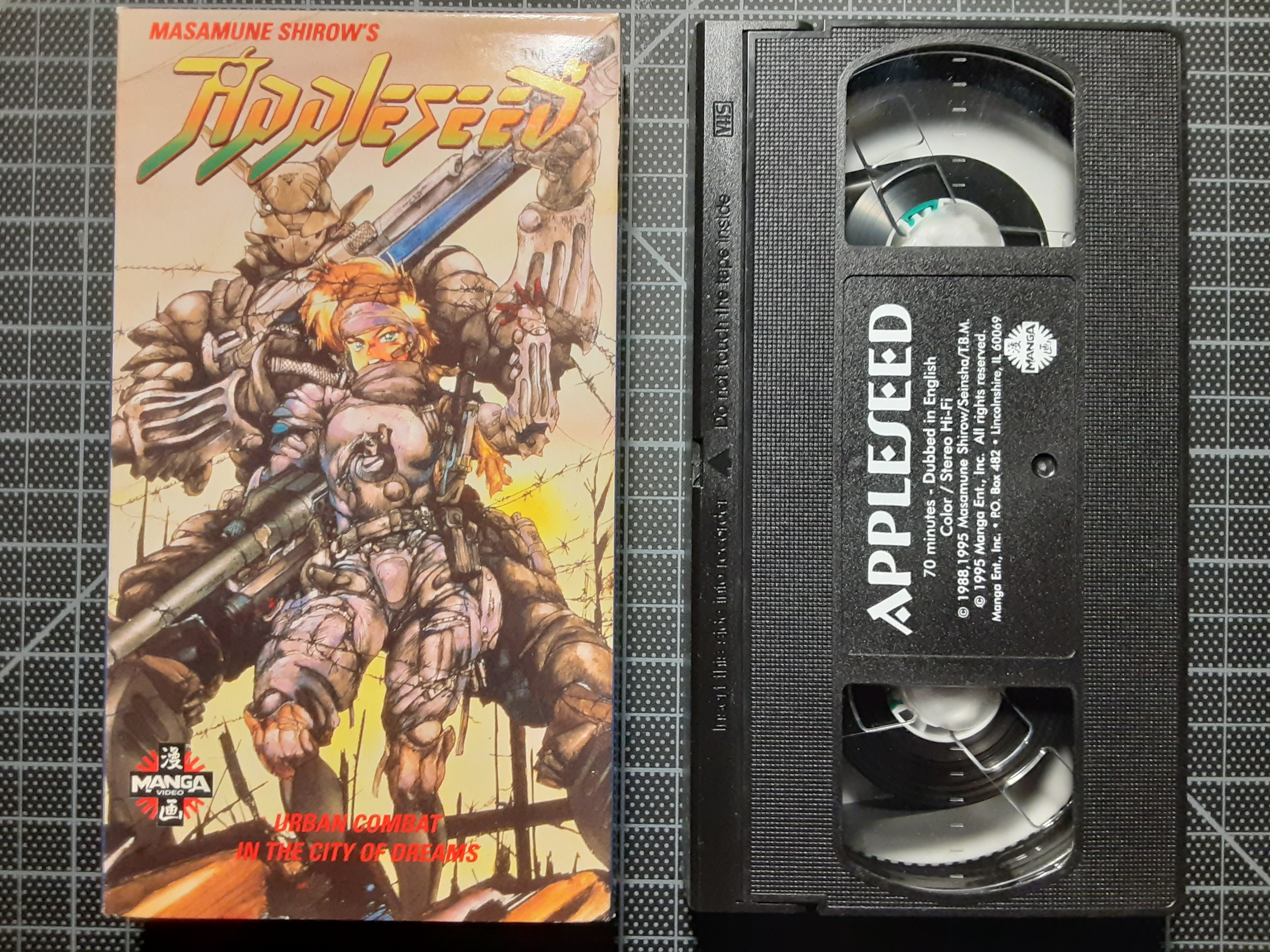Appleseed Manga Video Vhs English Dubbed Version Sold By Dragon S Crypt On Storenvy