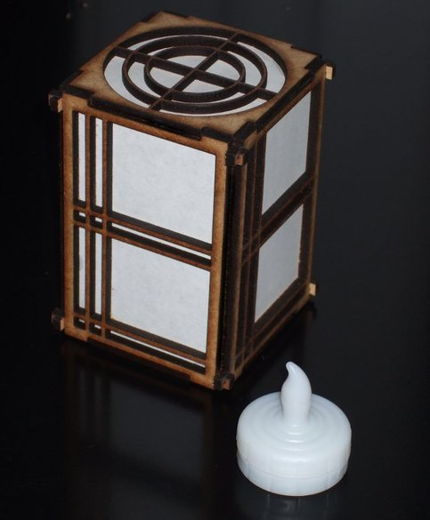 Online Lamp Store: Shoji Lamp With LED Tealight