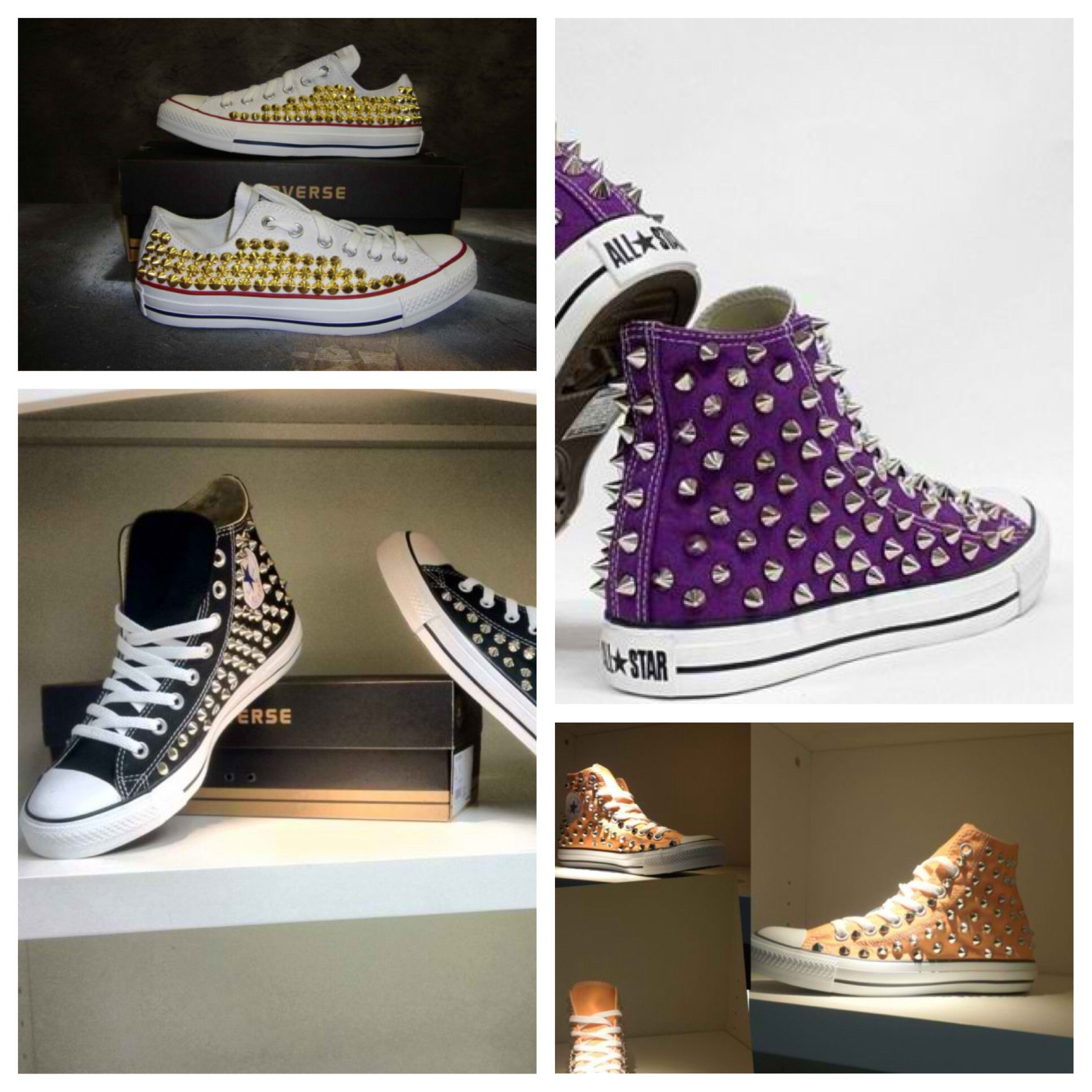 Custom spike studded converse shoes sizes 6-13 3141b6bb4