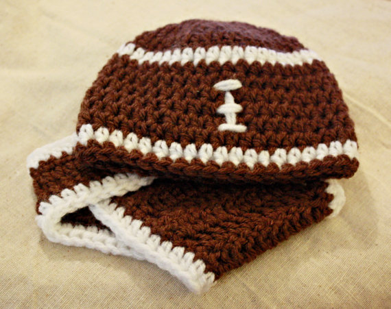 Crochet Football Hat Diaper Cover Willow Blue Online Store