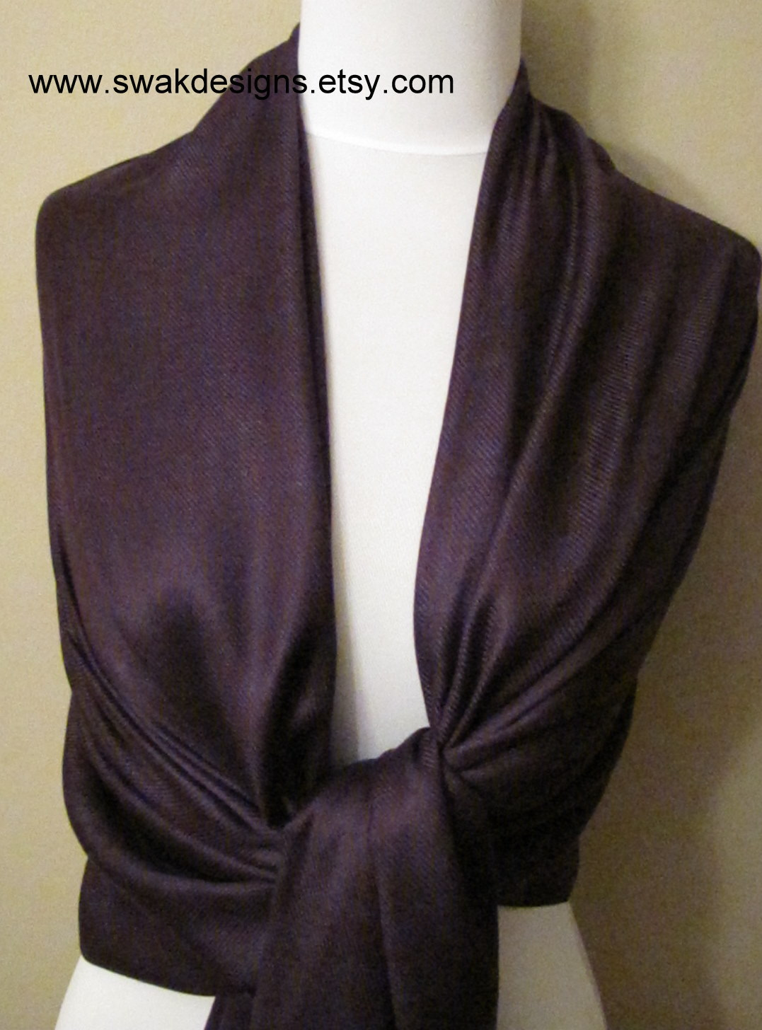 Dark Purple Pashmina Scarf Bridal Shawl Fashion Shawl