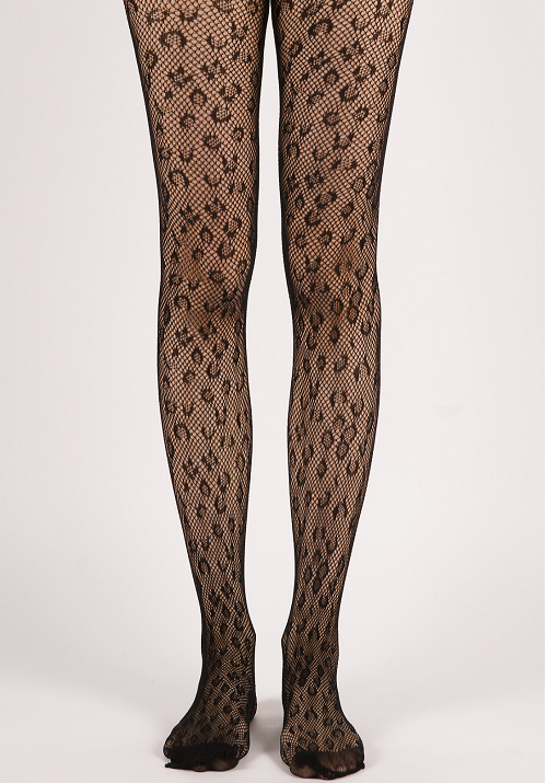 1fdd96216dd Leopard Pattern Fishnet Tights - Black · Miss Olina · Online Store ...