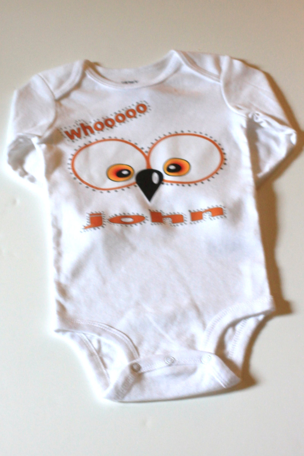 Whoot Owl Personalized Baby Boys Onesie, Bodysuit , Cotton ...