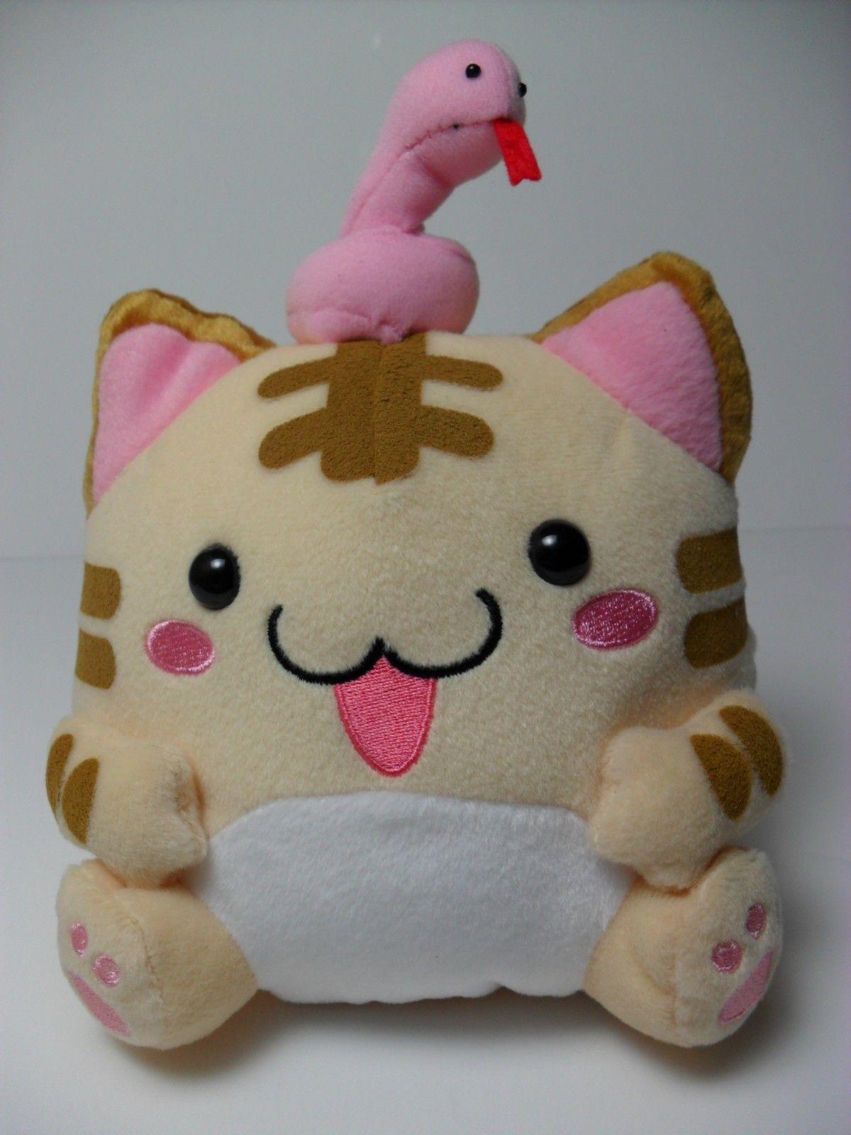 Maruneko Snake Charmer Tiger Stripe Yellow Cat 16cm Plush Kawaii