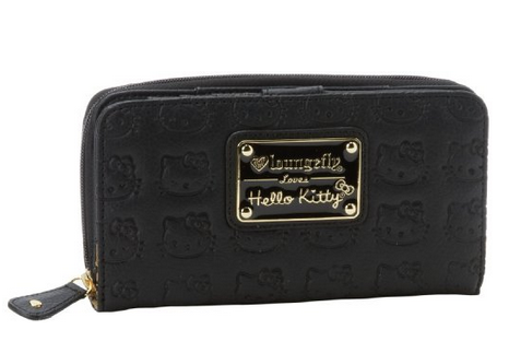 af7877201 Hello Kitty Black Embossed Faux Leather Zip Wallet · Trends ...